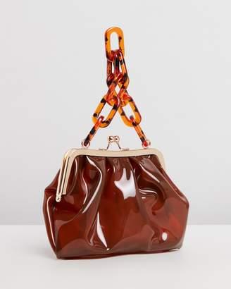 Missguided Transparent Tortoiseshell Bag