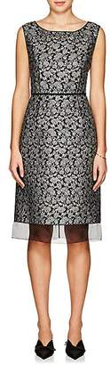 Marc Jacobs WOMEN'S FLORAL BROCADE SLEEVELESS SHEATH DRESS - BLACK/GOLD SIZE 2