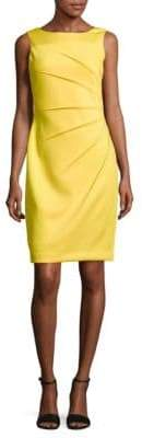 Calvin Klein Sleeveless Starburst Scuba Sheath Dress