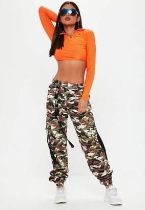 Missguided Barbie x Khaki Logo Camo Combat Pants