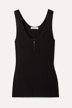 Altuzarra Pointelle-knit Wool And Cashmere-blend Tank - Black