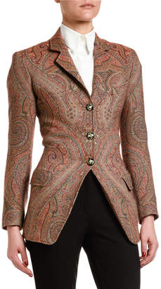 Etro Equestrian Arnica Woven Jacket