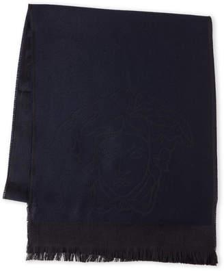 Versace Medusa Houndstooth Wool Scarf