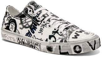 Vetements Graffiti Low Tops in White & Georgian Print | FWRD
