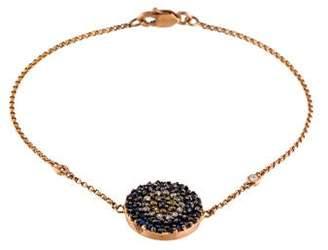 14K Sapphire, Yellow Sapphire & Diamond Evil Eye Link Bracelet
