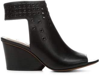 Donald J Pliner JANESP, Embellished Calf Leather Wedge Sandal