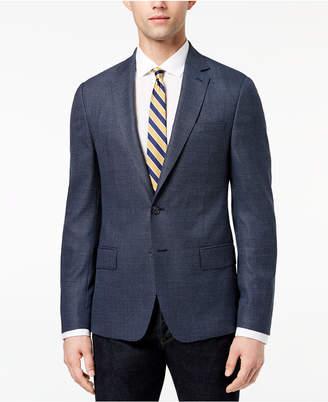 DKNY Men's Modern-Fit Blue Neat Diamond-Print Sport Coat
