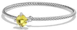 David Yurman Chatelaine Diamond & Lemon Citrine Cabled Bracelet $650 thestylecure.com