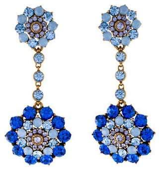 Oscar de la Renta Crystal Jewelry Drop Earrings