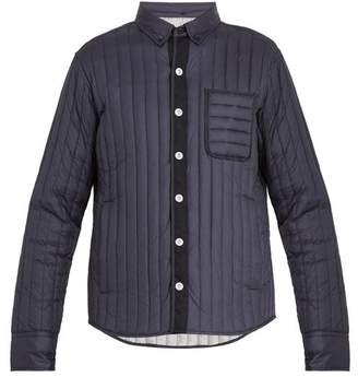 Moncler Gamme Bleu Mylon Patch Pocket Quilted Down Jacket - Mens - Navy