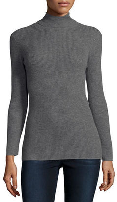 Neiman Marcus Cashmere Collection Cashmere Ribbed Turtleneck $250 thestylecure.com
