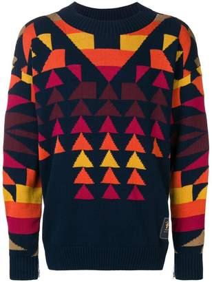 Sacai geometric pattern jumper