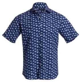 Saks Fifth Avenue COLLECTION Seersucker Floral Shirt