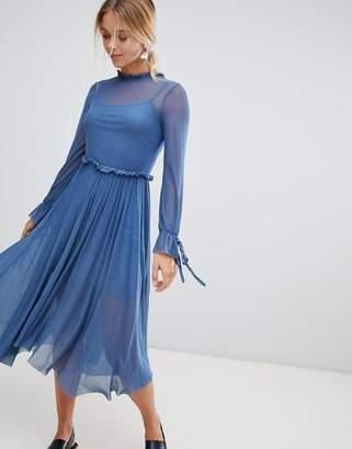 Glamorous mesh midi dress