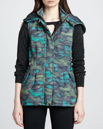 Nanette Lepore Stratosphere Printed Puffer Vest