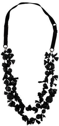 pradaPrada Ribbon and Bead Necklace