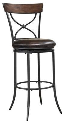 Hillsdale Furniture Cameron Swivel X-Back Counter Stool