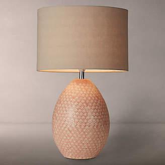 John Lewis & Partners Vedika Ceramic Mosaic Stamped Table Lamp, Pink