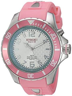 KYBOE! Power Stainless Steel Quartz Watch with Silicone Strap