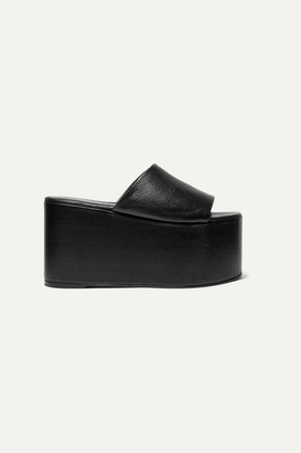 Simon Miller Blackout Textured-leather Platform Sandals