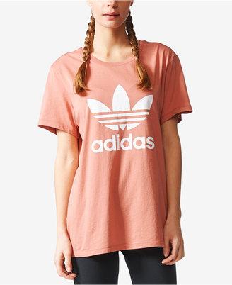 adidas Originals Treifoil Boyfriend T-Shirt $30 thestylecure.com