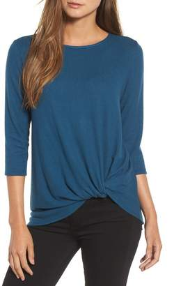 Gibson Cozy Twist Front Pullover (Regular & Petite)