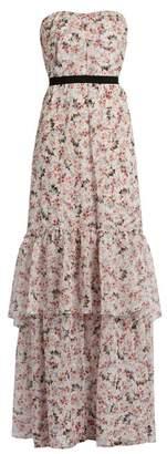 Erdem Simona Floral Print Silk Voile Gown - Womens - Multi