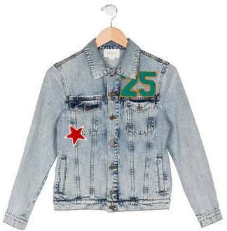 Gucci Boys' Embroidered Denim Jacket