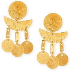 NEST Jewelry Geometric Hammered Dangle Earrings