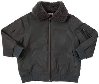 Stella McCartney Reflective Faux Shearling & Nylon Jacket