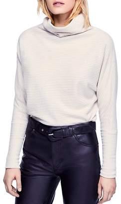 Free People Kitty Waffle-Knit Turtleneck Sweater