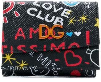 Dolce & Gabbana Love Club graffiti wallet