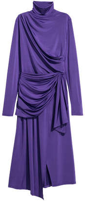 H&M Draped Dress - Purple