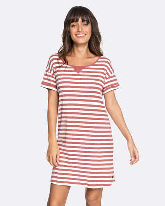 Roxy Womens I Need Your Time Striped Tee Dress