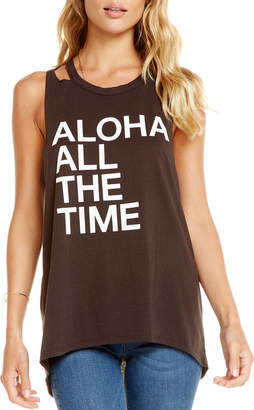 Chaser Aloha Forever Cutout Graphic Tank
