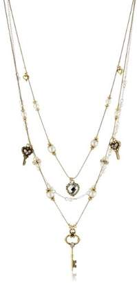 Betsey Johnson Iconic' Heart and Key Illusion Necklace
