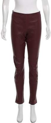 Theory Leather High-Rise Pants