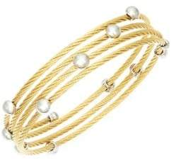 Alor Classique Goldplated Stainless Steel Coil Bracelet