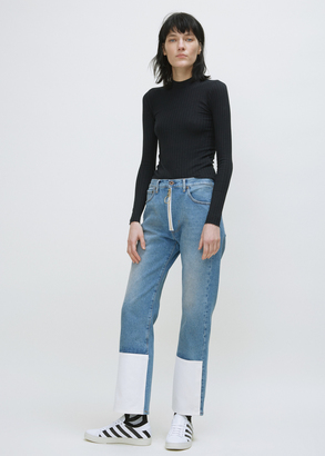 Off-White vintage wash zip front patch pocket $739 thestylecure.com