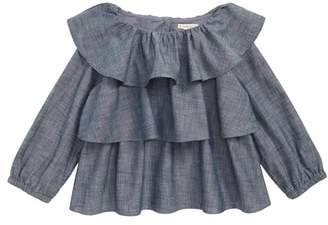J.Crew crewcuts by Ruffle Chambray Top