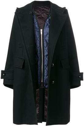 Sacai double breasted coat