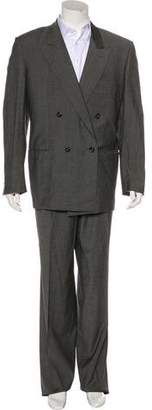 Gucci Vintage Double-Breasted Polka Dot Wool Suit