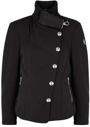 High Black Quilted Shell Jacket