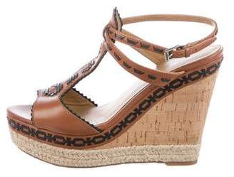 Belle by Sigerson Morrison Leather Wedge Sandals