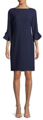 Karl Lagerfeld Paris Ruffle Bell Sleeve Sheath Dress