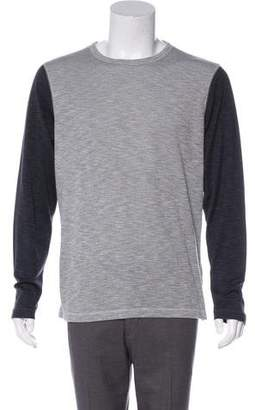 Theory Color-Blocked Long Sleeve T-Shirt