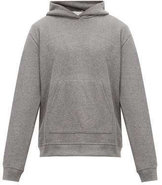John Elliott Hooded Villain Loop Back Cotton Jersey Sweatshirt - Mens - Dark Grey