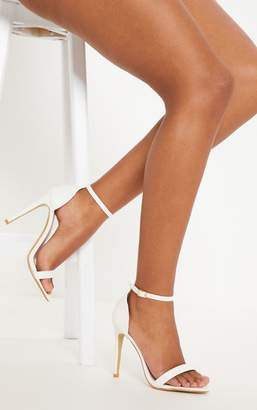 PrettyLittleThing Clover Gold Metallic Heeled Strappy Sandal