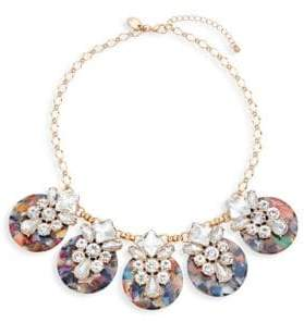 Ava & Aiden Goldtone Crystal Disc Bib Necklace