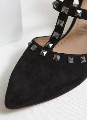 Mint Velvet Louise Black Stud Kitten Heel